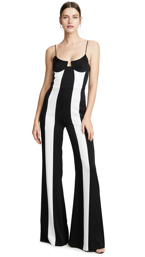 Galvan London Phoebe Jumpsuit in black / white
