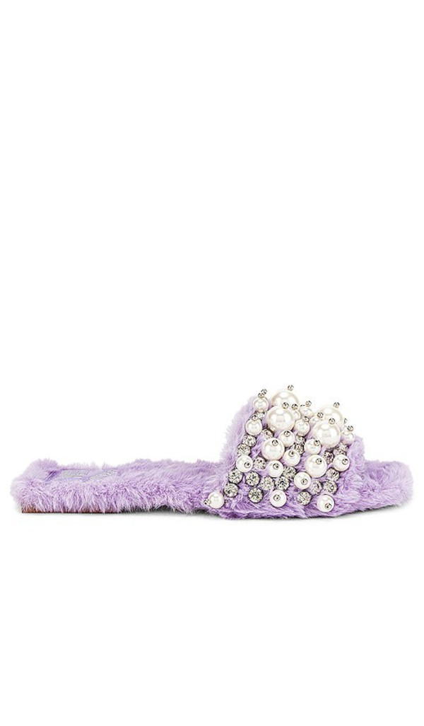 Jeffrey Campbell Facile Slide in Lavender in lilac