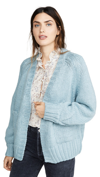 MINKPINK Evening Knit Cardigan in blue
