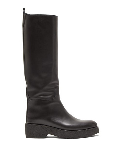 The Row - Motorbike Leather Boots - Womens - Black
