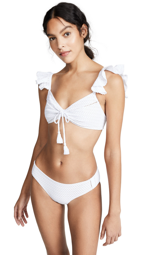4dabd92eb5040c Jonathan Simkhai Off Shoulder Puff Sleeves Bikini Top in midnight ...