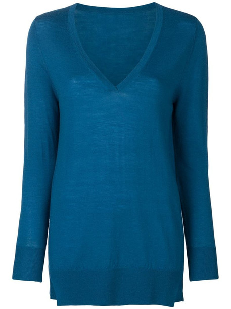 Sottomettimi lightweight knit jumper in blue
