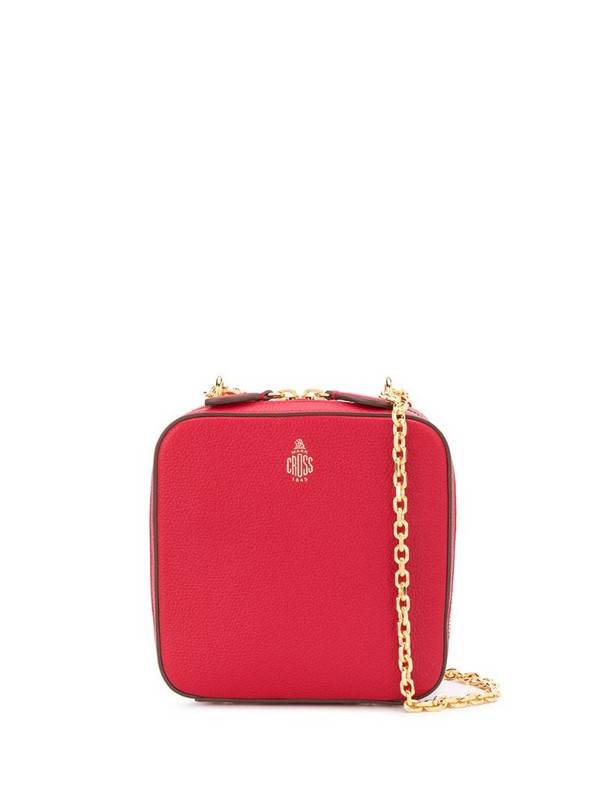 Mark Cross structured box bag in red