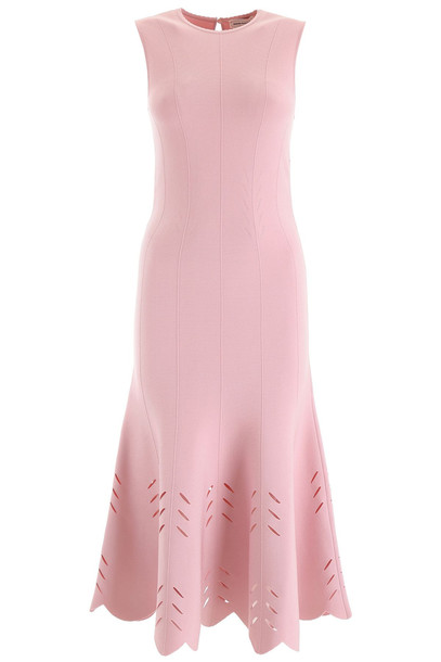 Alexander McQueen Knit Midi Dress in pink