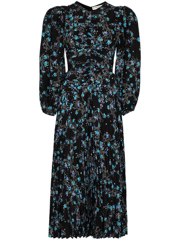 Givenchy floral print midi dress in black