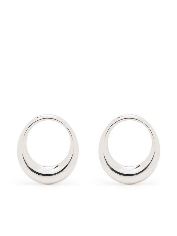 BONVO Lune hoop earrings in silver