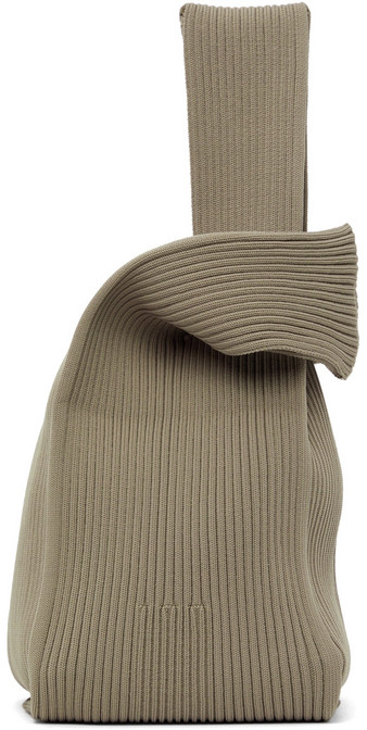 CFCL Taupe Notched Rib Tote in beige