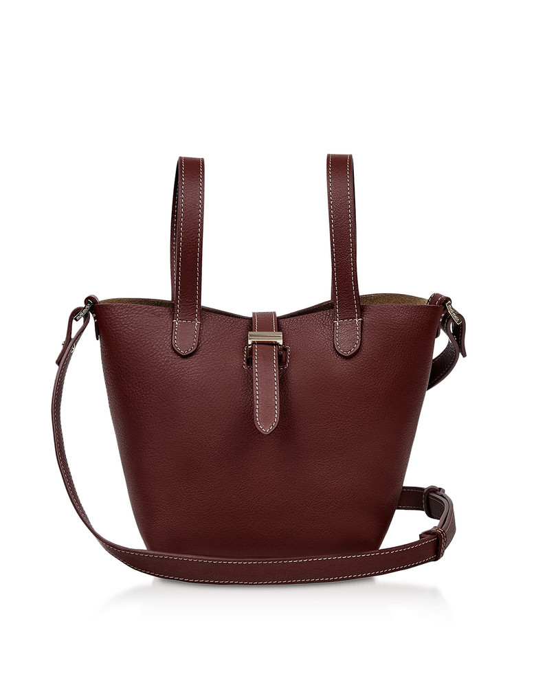 Meli Melo Argan Thela Mini Shopper in burgundy