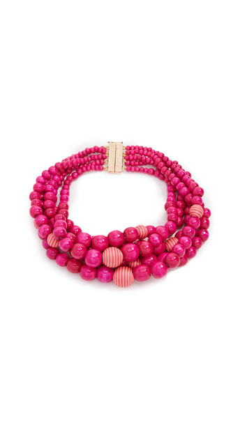 Rosantica Colonia Necklace in pink / red