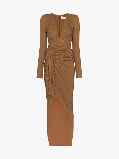 Alexandre Vauthier V-neck crystal embellished gown