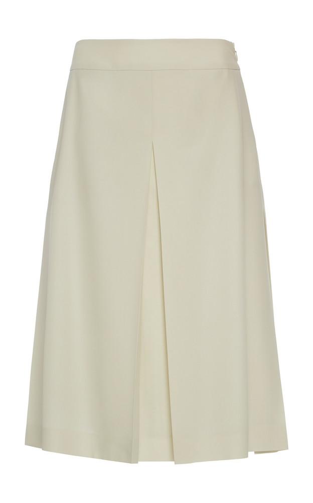Agnona Eternals Fresco Lana Skirt in white