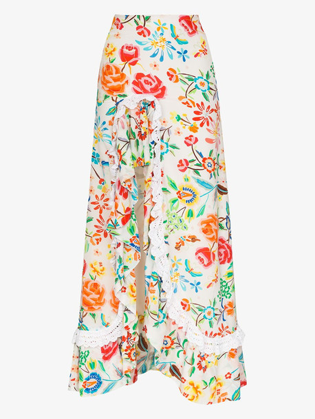 All Things Mochi Clara floral print maxi skirt