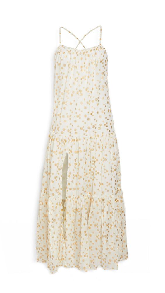 SUNDRESS Lotus Dress in gold / ivory