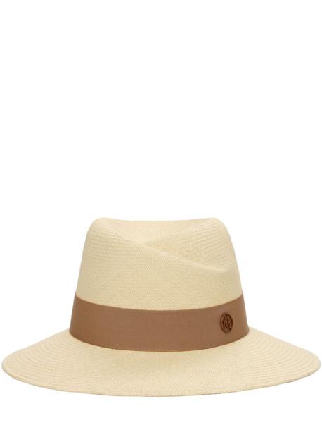 MAISON MICHEL Virginie Straw Hat in beige
