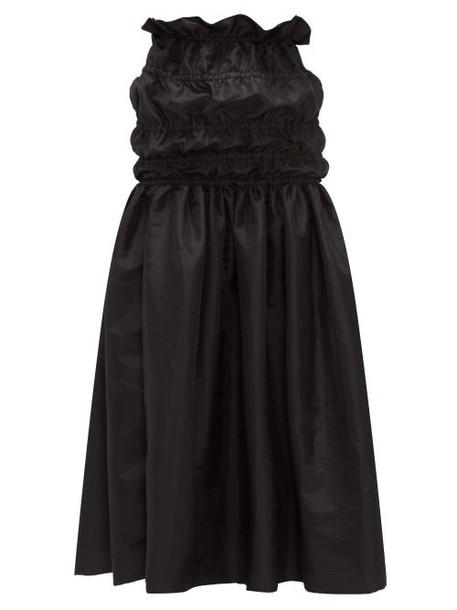 Romance Was Born - Opera Ruched-waist Taffeta Maxi Skirt - Womens - Black
