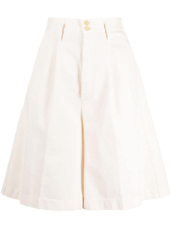 Forte Forte wide-leg shorts in white