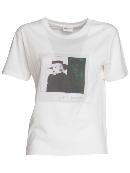 Saint Laurent Pola Esther T-shirt In White