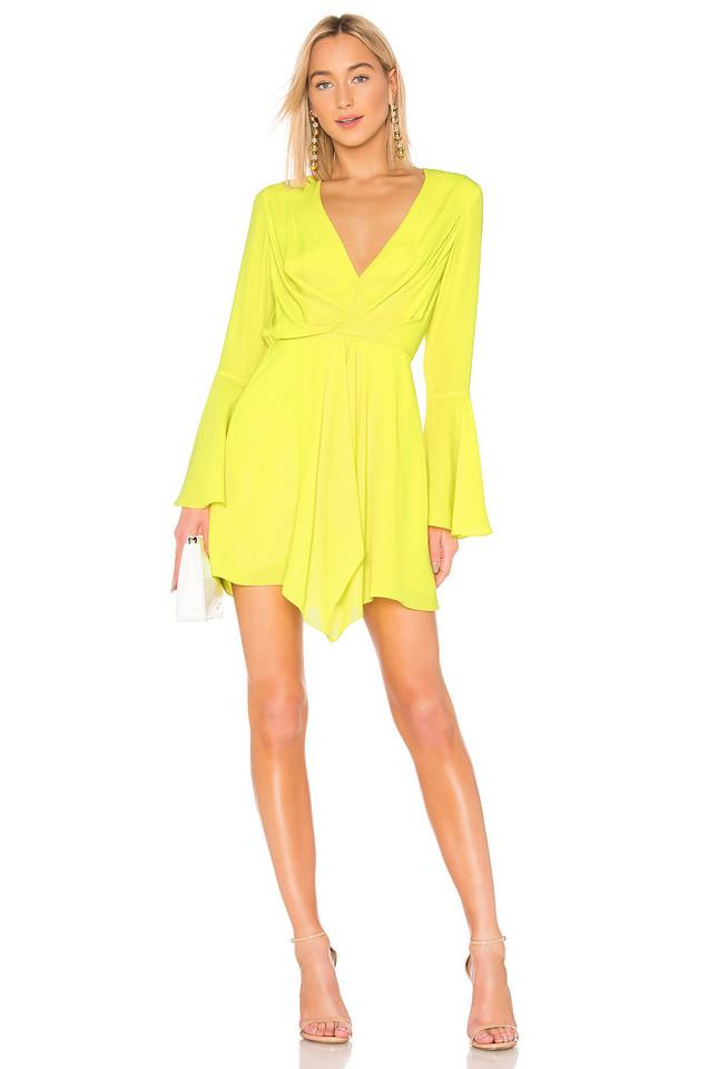 Jay Godfrey Dottie Dress in yellow