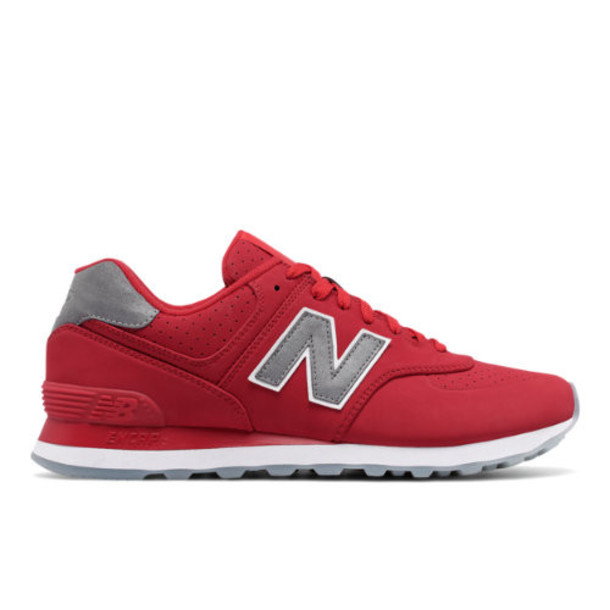 New Balance 574 Synthetic Men's 574 Shoes - Red (ML574SYD)