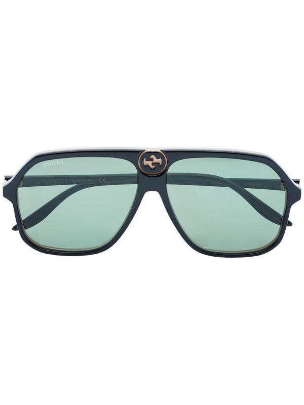 Gucci Eyewear aviator-style sunglasses in black