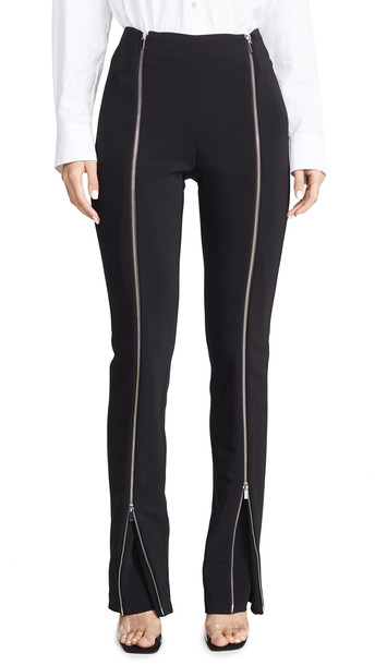 Rosetta Getty Zipper Godet Pants in black