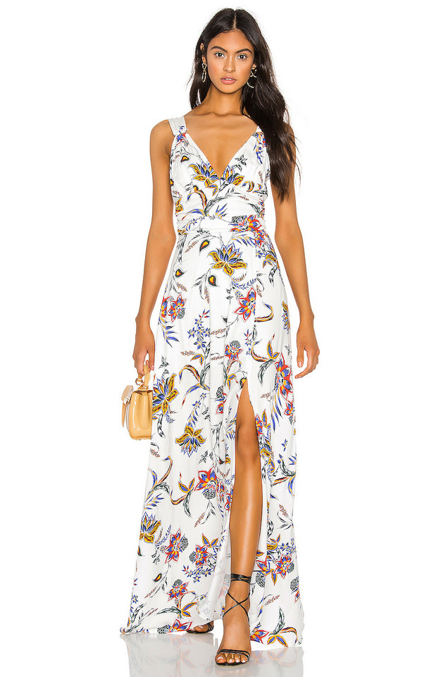 THE JETSET DIARIES Crazy In Love Maxi Dress in white