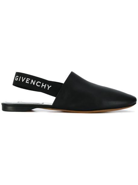 Givenchy Rivington slingback flats in black