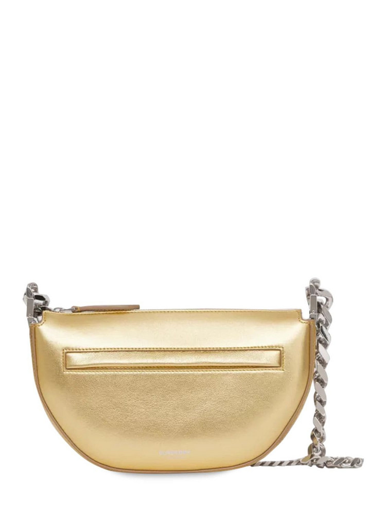 BURBERRY Mini Olympia Leather Shoulder Bag in gold