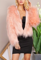 jacket,girly,girl,girly wishlist,pink,fur,fur coat,fur jacket