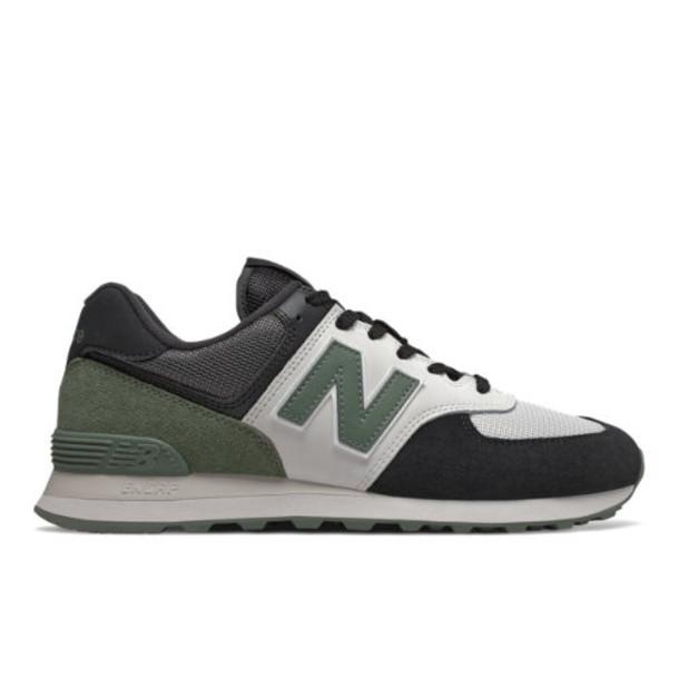 New Balance 574 Men's 574 Shoes - Black/Green (ML574JHU)