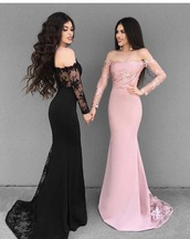dress,black dress,pink dress,instagram,lace dress,long dress,prom dress