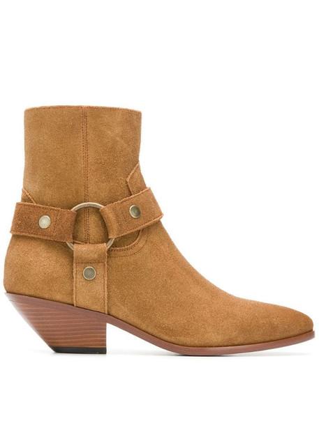 Saint Laurent West Harness boots in brown