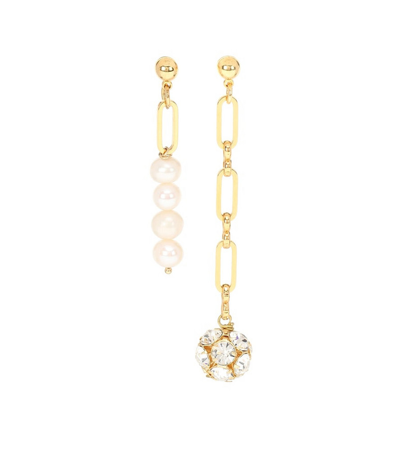 Timeless Pearly Exclusive to Mytheresa – Mismatched gold-plated earrings