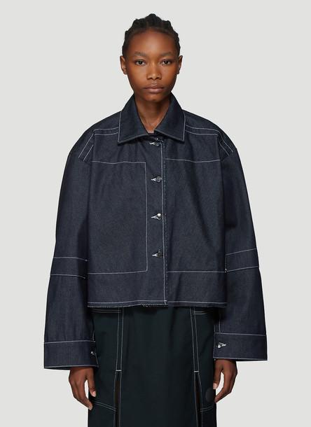 Laerke Andersen Wrap Shirt in Blue size One Size