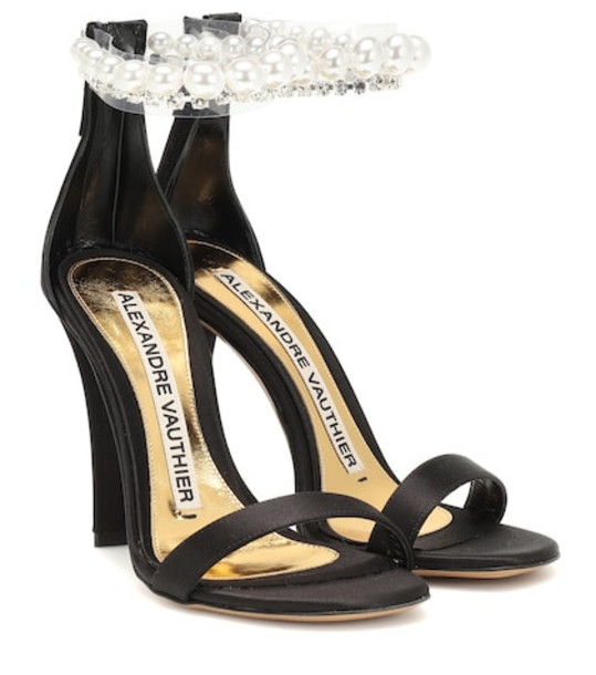 Alexandre Vauthier Roro embellished satin sandals in black