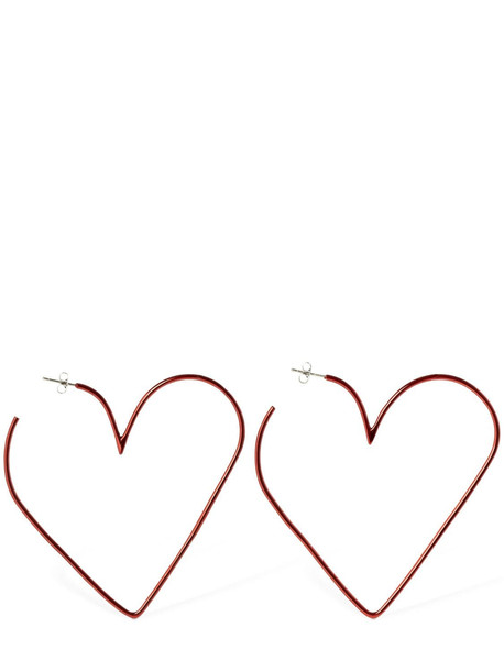 ISABEL MARANT In Love Big Hoop Earrings in red
