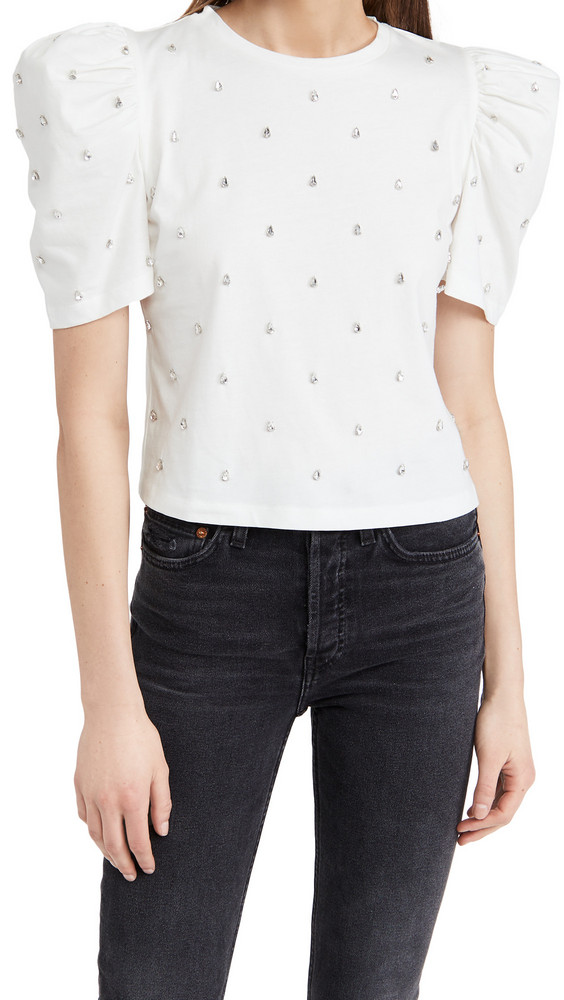 Giuseppe di Morabito Puff Sleeve Shirt in white
