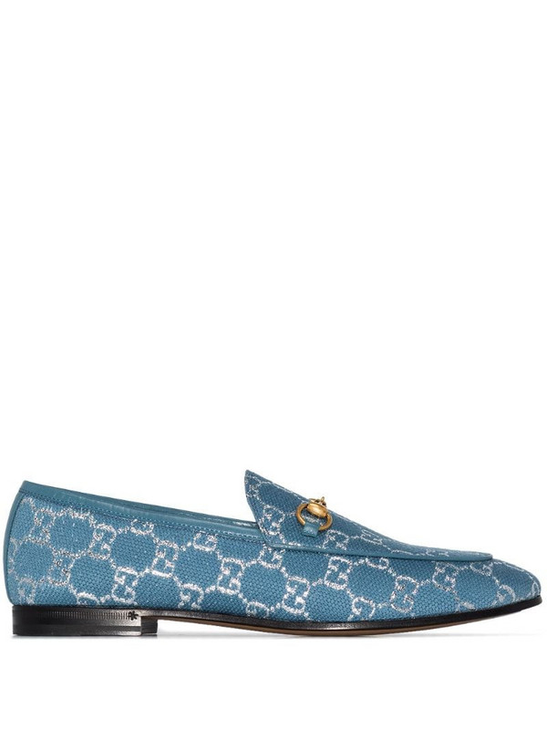 Gucci Brixton GG canvas loafers in blue