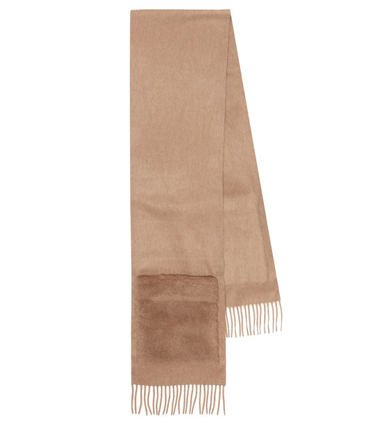 Max Mara Teddy camel hair scarf in beige