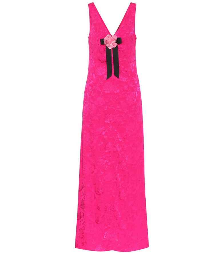 Staud Setter floral jacquard maxi dress in pink
