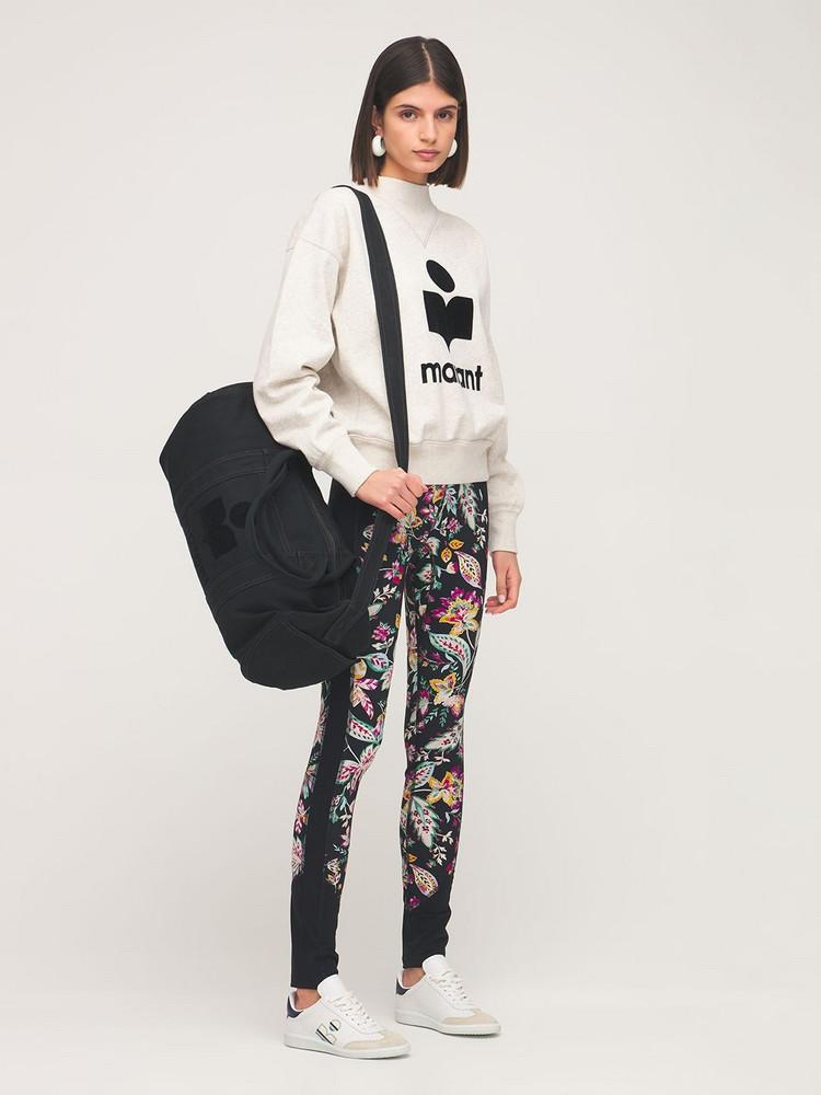 ISABEL MARANT Nayogi Cotton Duffle Bag in black
