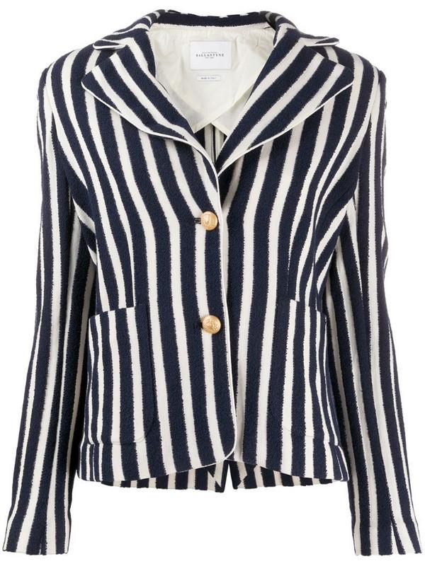 Ballantyne striped heritage blazer in blue