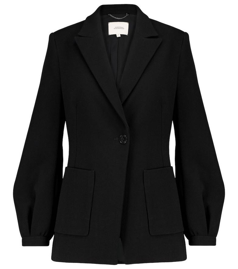 Dorothee Schumacher Sophisticated Perfection crêpe blazer in black