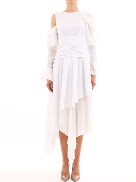 Loewe Draped White Dress