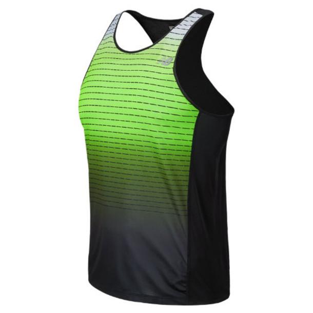 New Balance 5127 Men's Accelerate Singlet Graphic - Chemical Green, Black (MRT5127CMG)