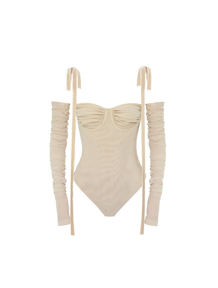 Orseund Iris EXCLUSIVE SULTRY BODYSUIT OATMEAL