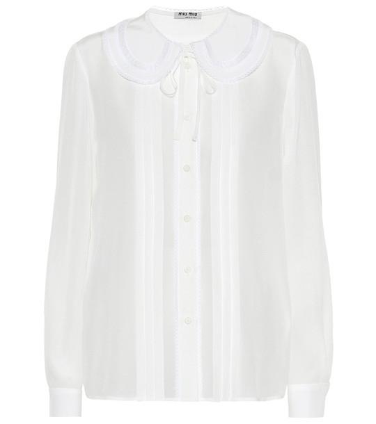 Miu Miu Silk blouse in white