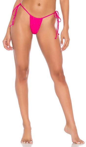 Frankies Bikinis Tess Bikini Bottom in Fuchsia in magenta