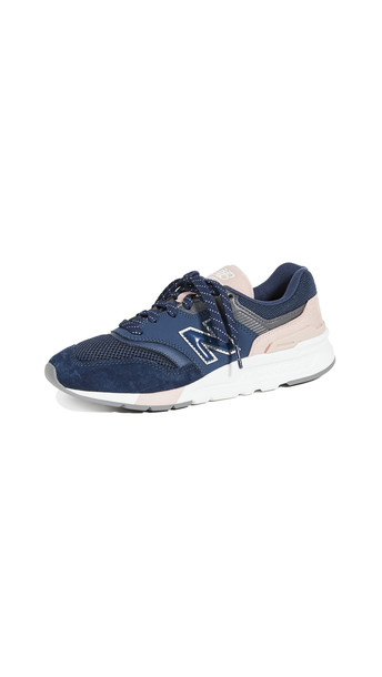 New Balance 997H Classic Sneakers in indigo / natural / pink