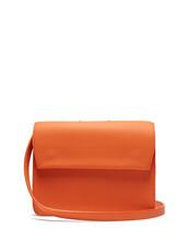 bag,shoulder bag,leather,orange